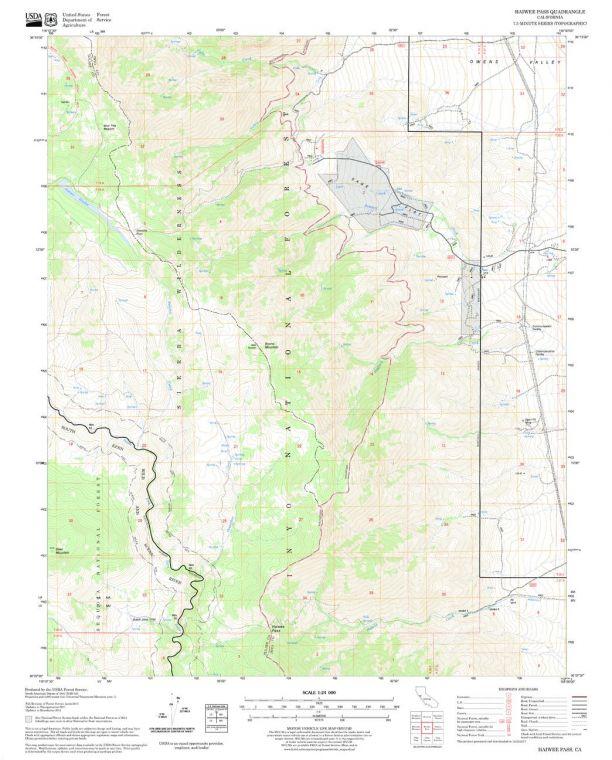 Haiwee Pass Quadrangle Map