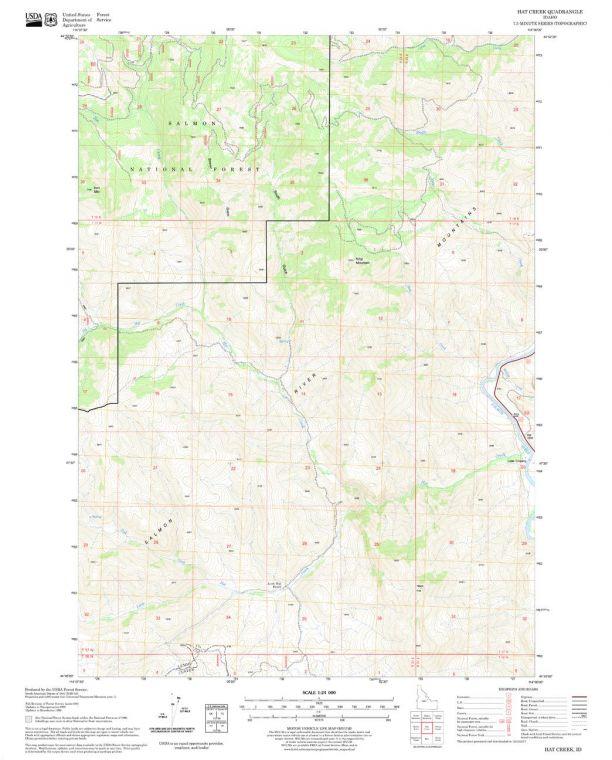 Hat Creek Quadrangle Map