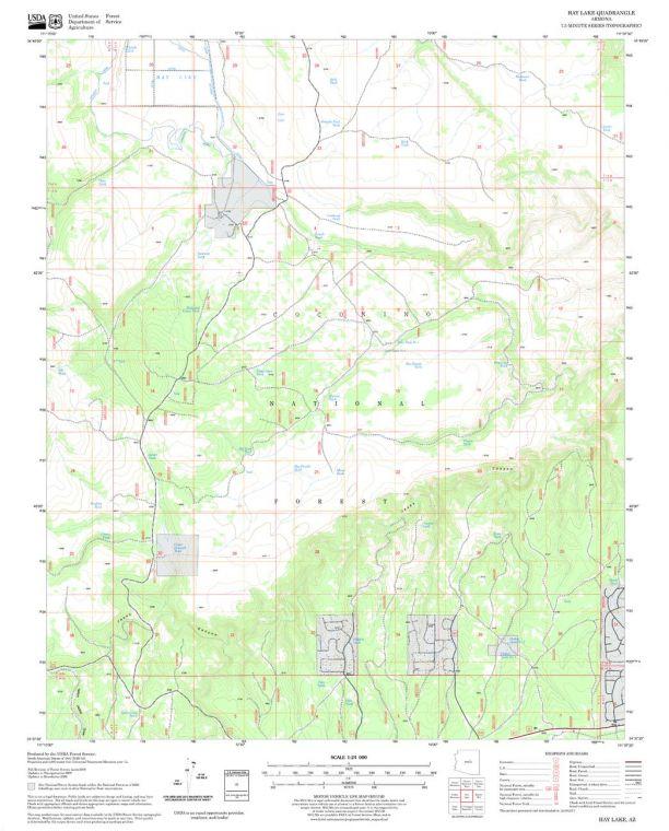 Hay Lake Quadrangle Map