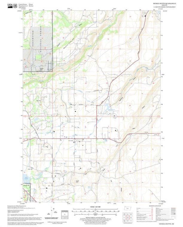 Henkle Butte Quadrangle Map