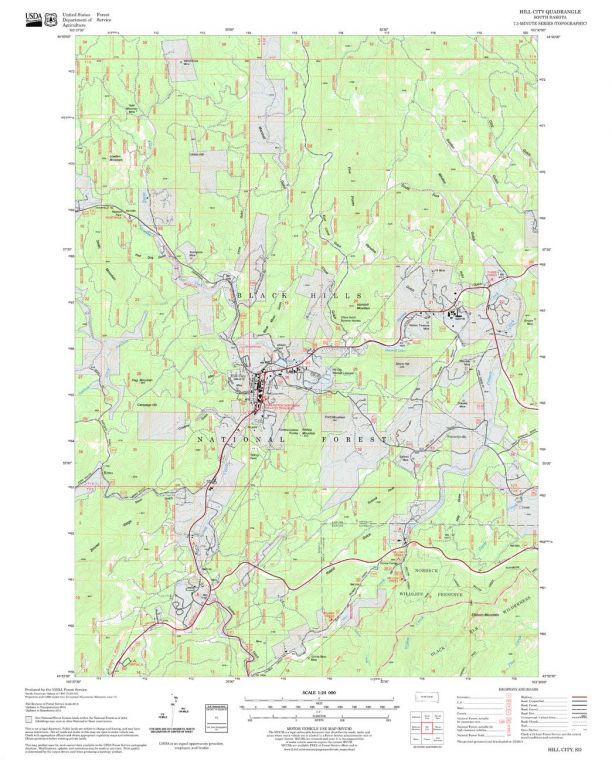 Hill City Quadrangle Map