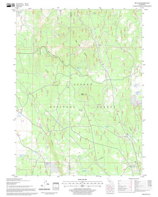 Jellico Quadrangle Map