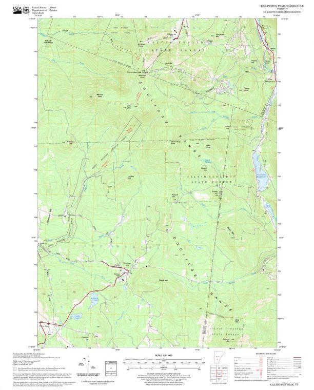 Killington Peak Quadrangle Map