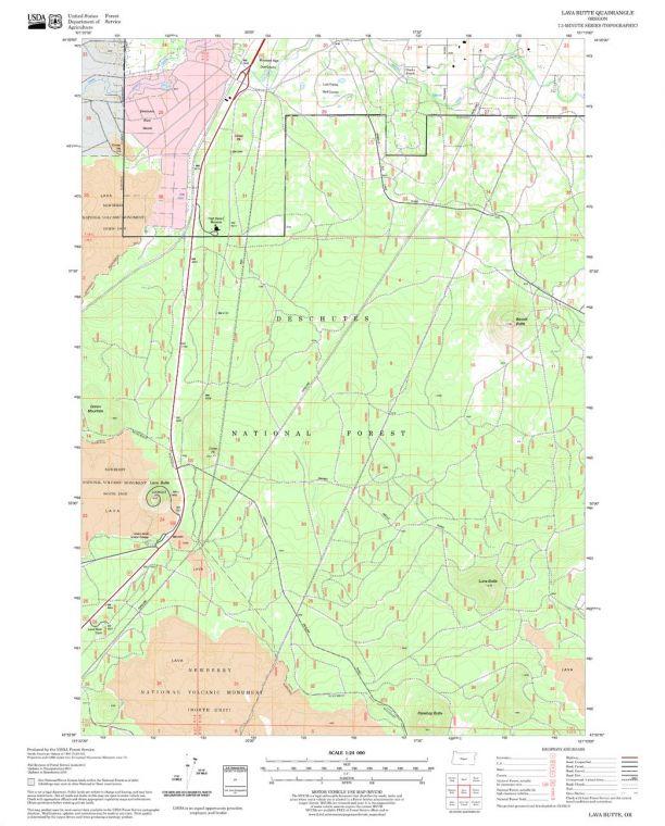 Lava Butte Quadrangle Map