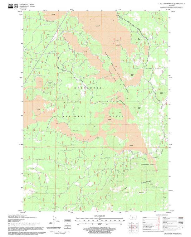 Lava Cast Forest Quadrangle Map