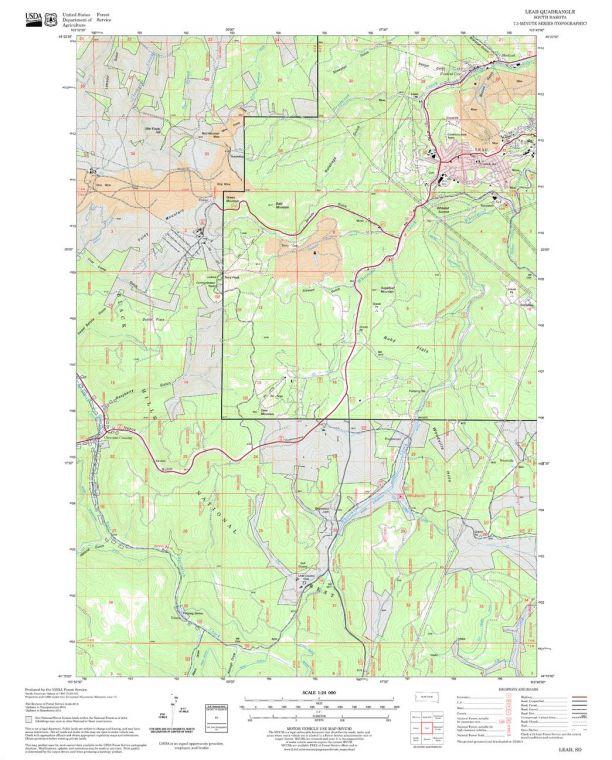 Lead Quadrangle Map