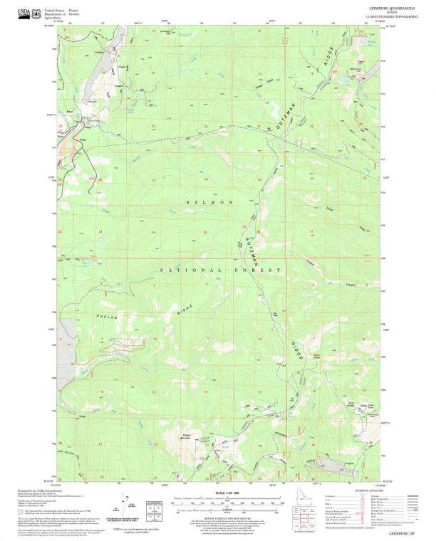 Leesburg Quadrangle Map