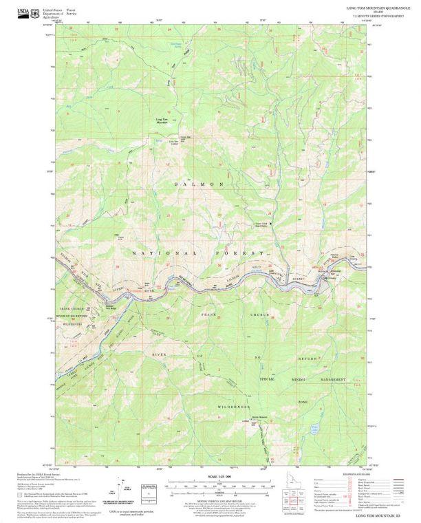 Long Tom Mountain Quadrangle Map