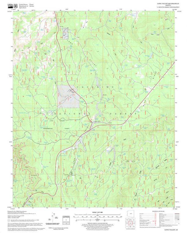 Long Valley Quadrangle Map