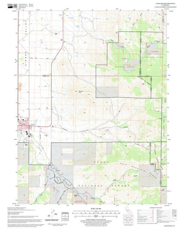 Loyalton Quadrangle Map