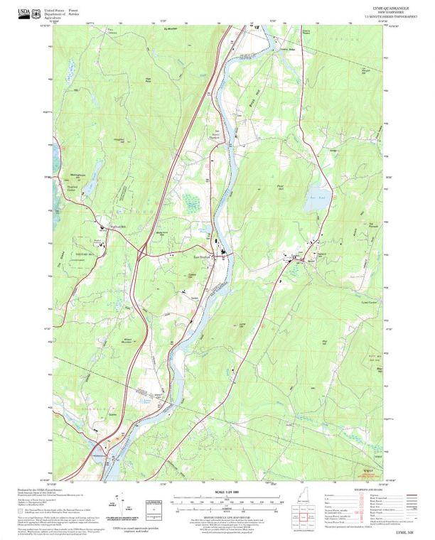 Lyme Quadrangle Map