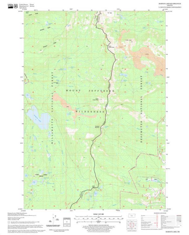 Marion Lake Quadrangle Map