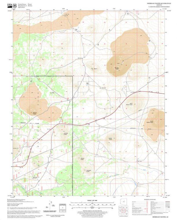 Merriam Crater Quadrangle Map