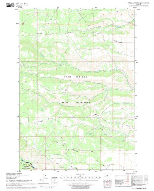 Metolius Bench Quadrangle Map