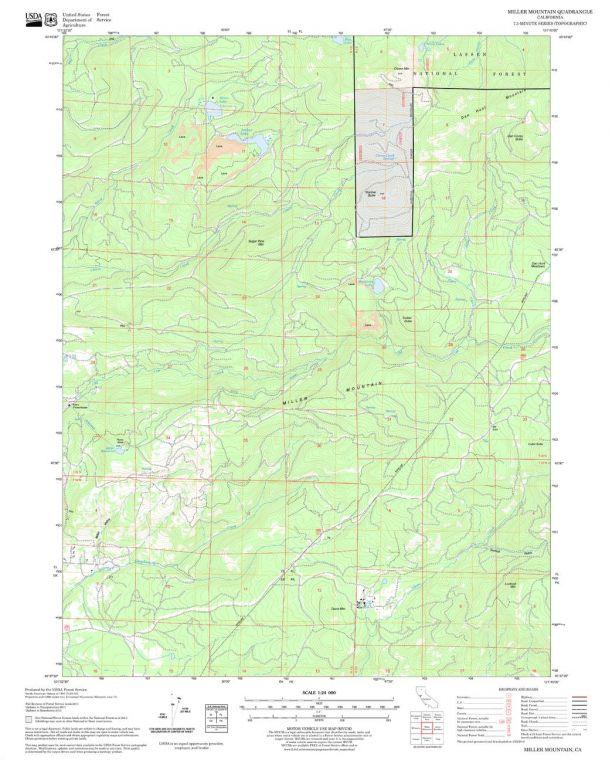 Miller Mountain Quadrangle Map