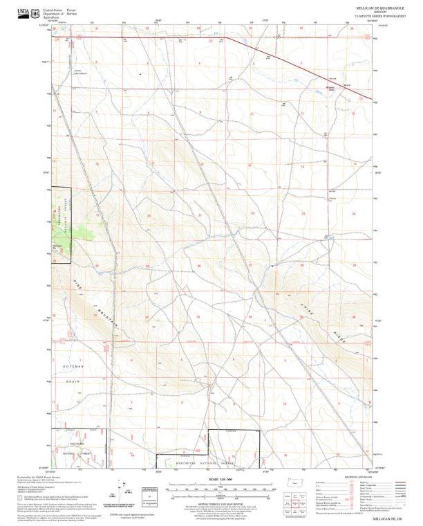 Millican SE Quadrangle Map