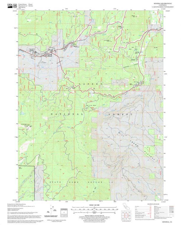 Mineral Quadrangle Map