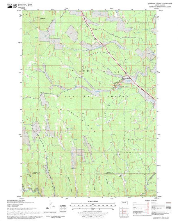 Minnesota Ridge Quadrangle Map
