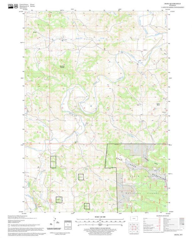 Mona Quadrangle Map