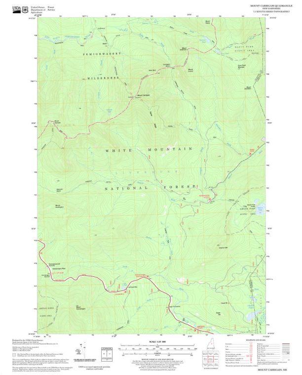 Mount Carrigain Quadrangle Map