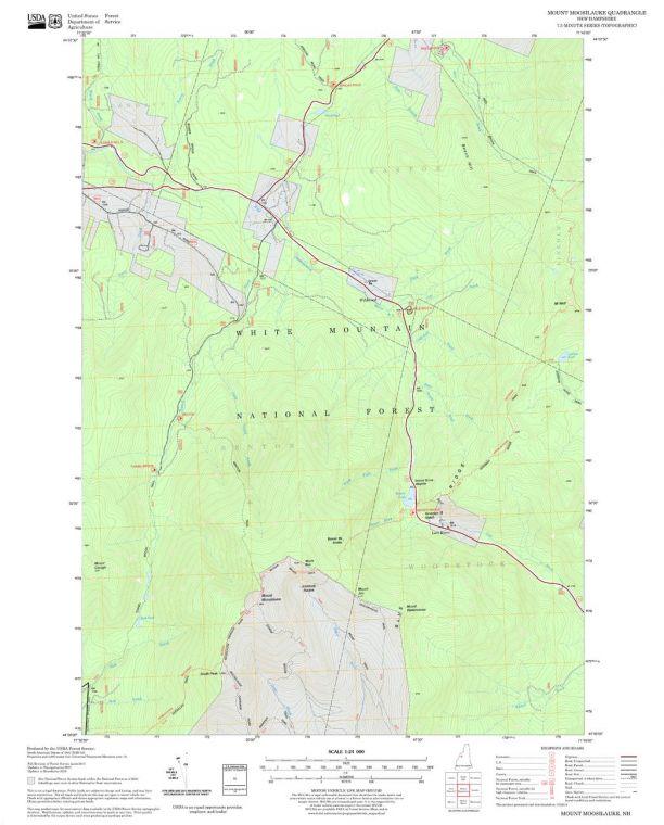Mount Moosilauke Quadrangle Map