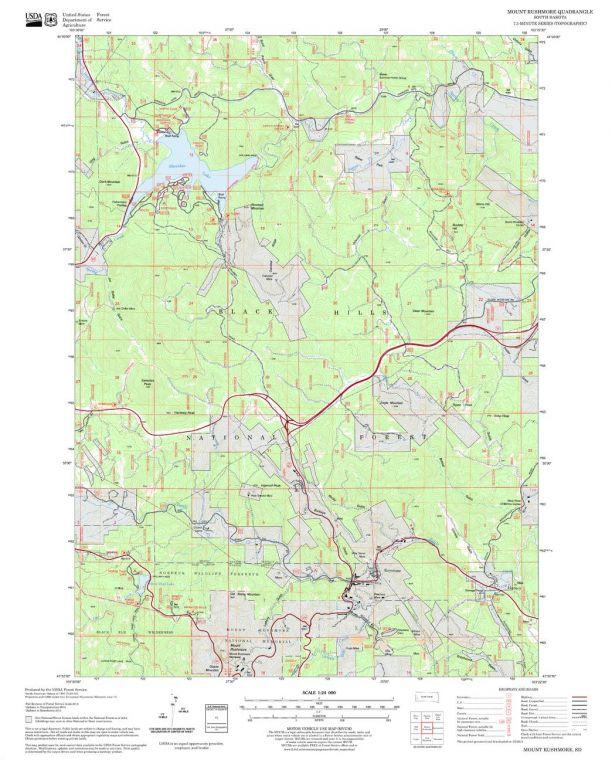 Mount Rushmore Quadrangle Map
