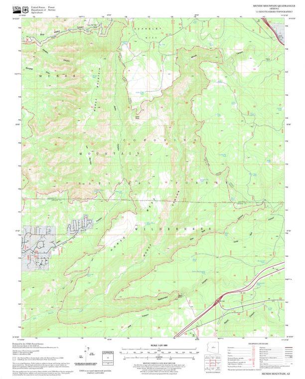 Munds Mountain Quadrangle Map