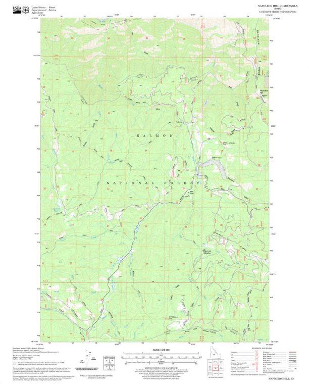 Napoleon Hill Quadrangle Map