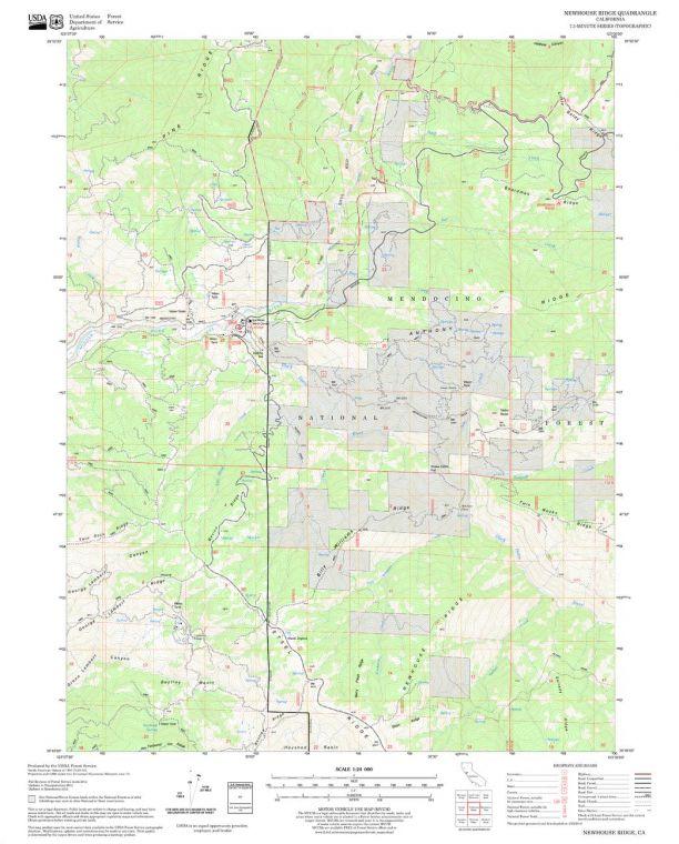 Newhouse Ridge Quadrangle Map