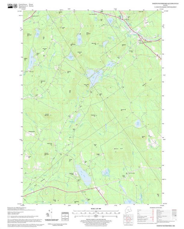 North Waterford Quadrangle Map