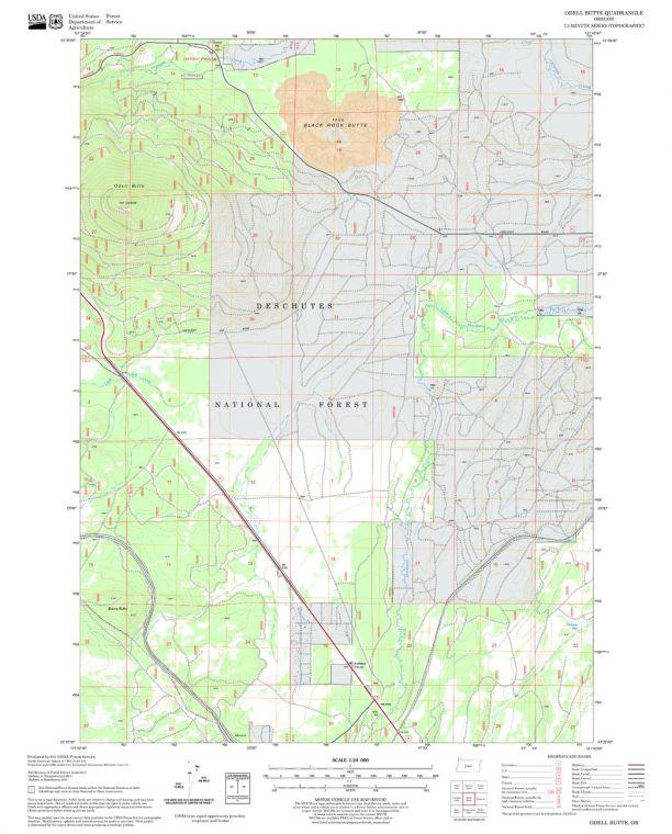 Odell Butte Quadrangle Map