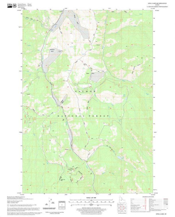 Opal Lake Quadrangle Map