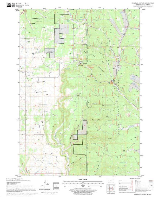 Parmlee Canyon Quadrangle Map