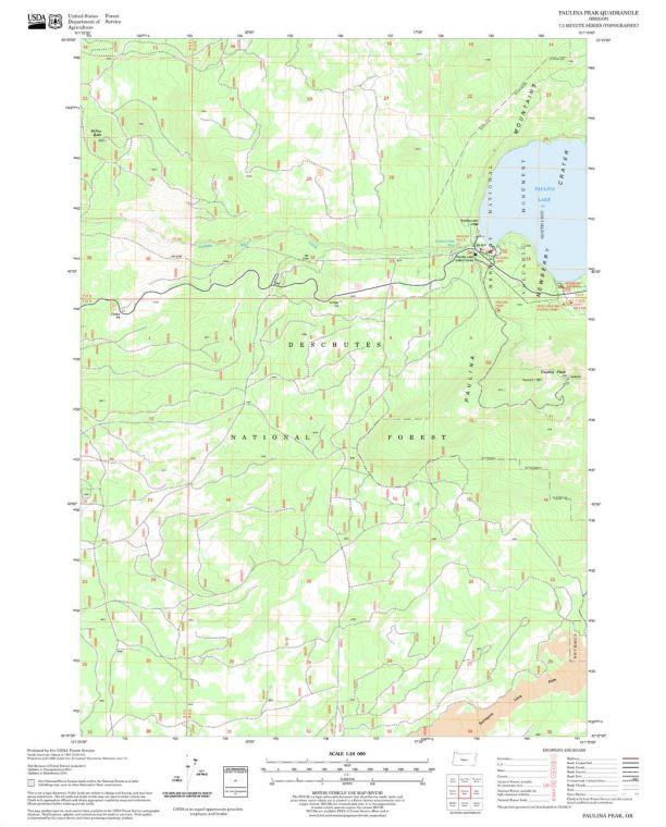 Paulina Peak Quadrangle Map