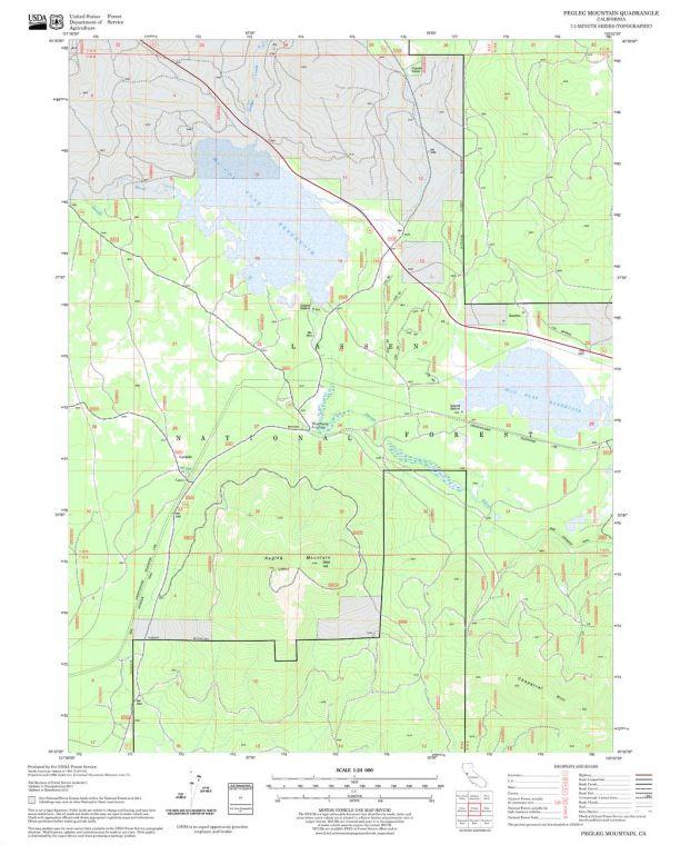 Pegleg Mountain Quadrangle Map