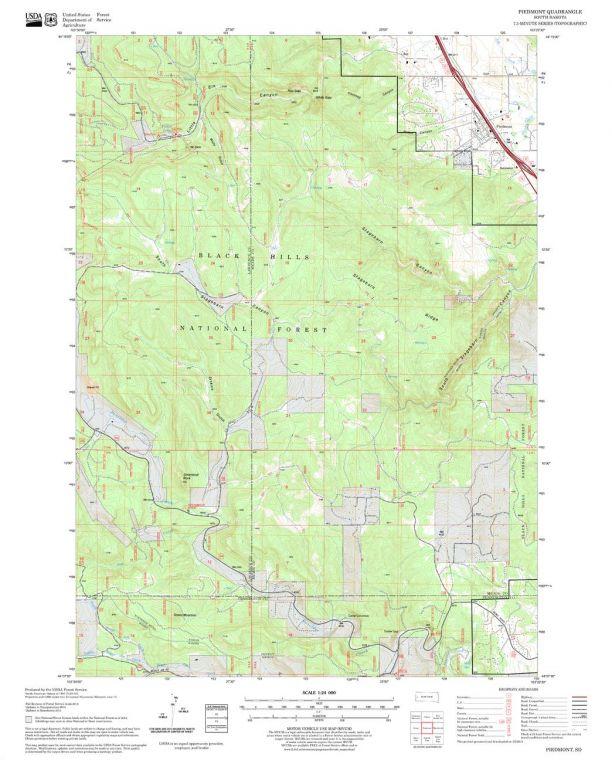 Piedmont Quadrangle Map