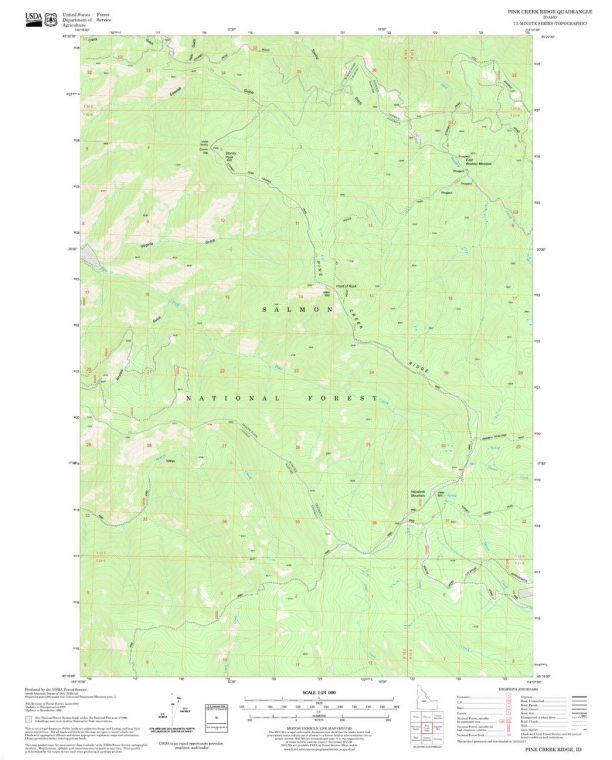 Pine Creek Ridge Quadrangle Map