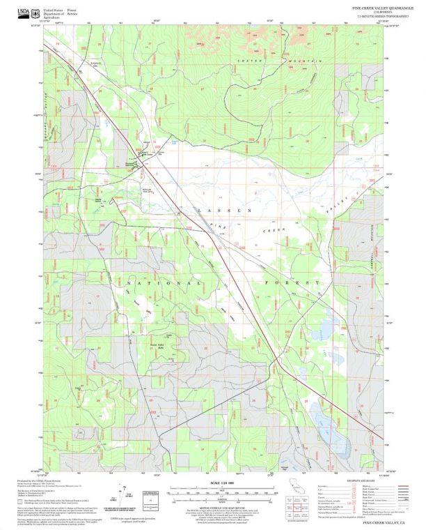 Pine Creek Valley Quadrangle Map