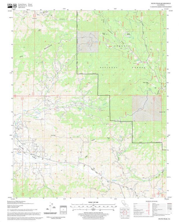 Piute Peak Quadrangle Map