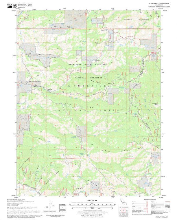 Potato Hill Quadrangle Map