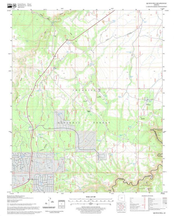 Quayle Hill Quadrangle Map