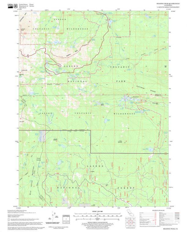 Reading Peak Quadrangle Map