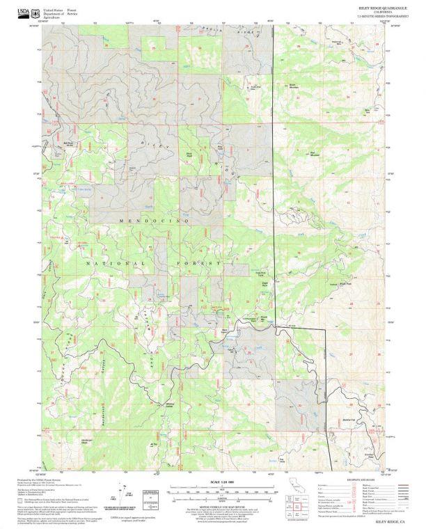 Riley Ridge Quadrangle Map