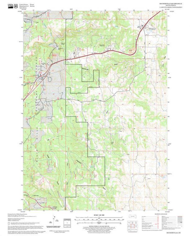 Rockerville Quadrangle Map
