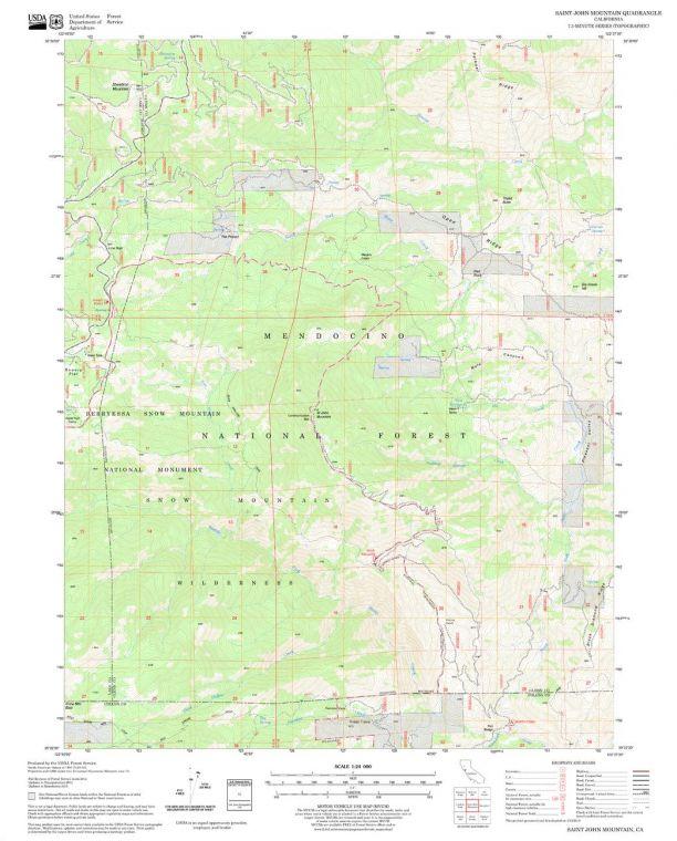 Saint John Mountain Quadrangle Map