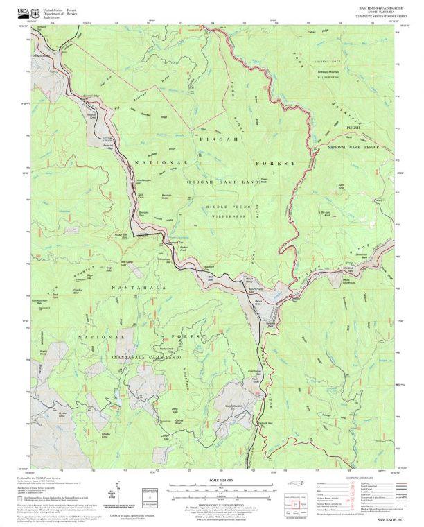 Sam Knob Quadrangle Map