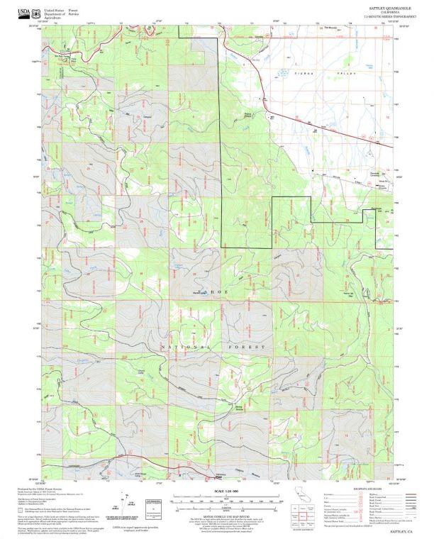 Sattley Quadrangle Map