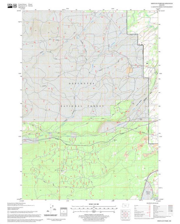 Shevlin Park Quadrangle Map