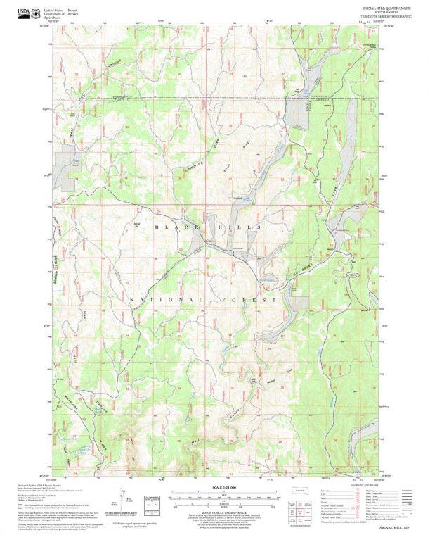 Signal Hill Quadrangle Map