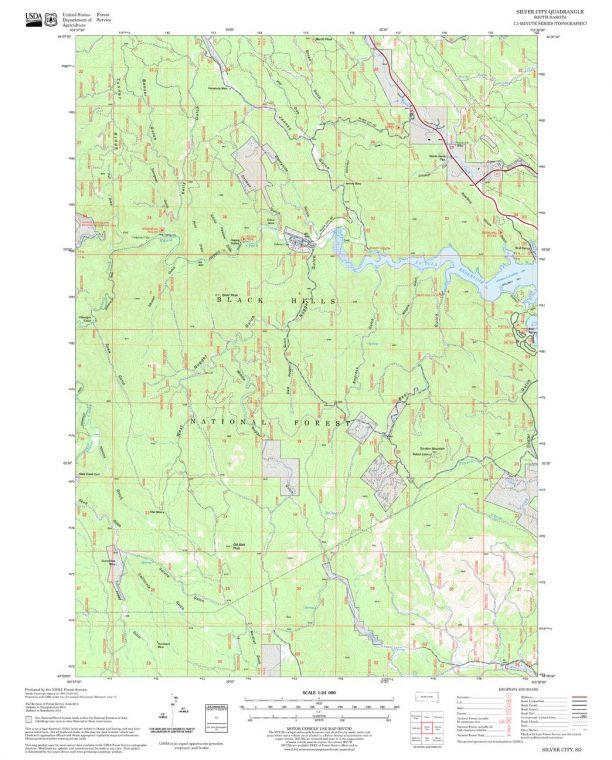 Silver City Quadrangle Map